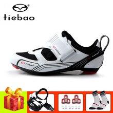 Tiebao chaussures de cyclisme route sapatilha ciclismo Triathlon baskets femmes hommes respirant vélo pédales auto-verrouillage route chaussures