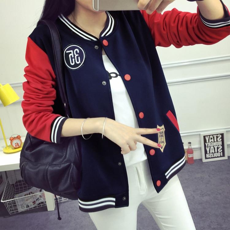 New Women Baseball Jacket Coat Long Sleeve Coat Feminina Baseball Tops hoodies Plus Size 5XL Outwear