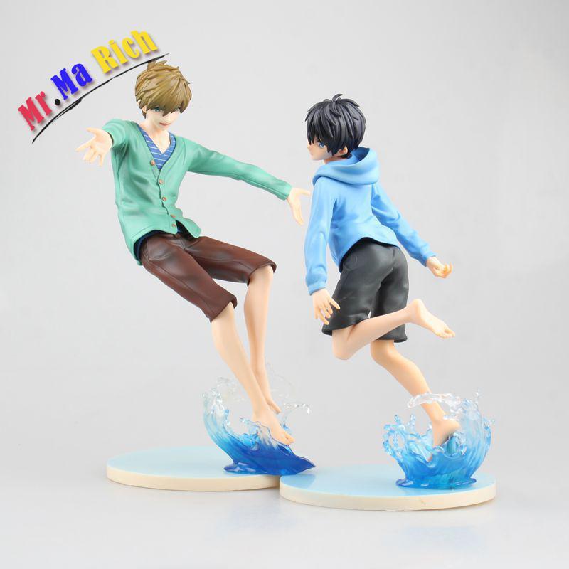 Figura de Anime 2 estilos 19-22cm ¡gratis! Makoto Tachibana Haruka nanase Pvc figura de juguete de modelos coleccionables