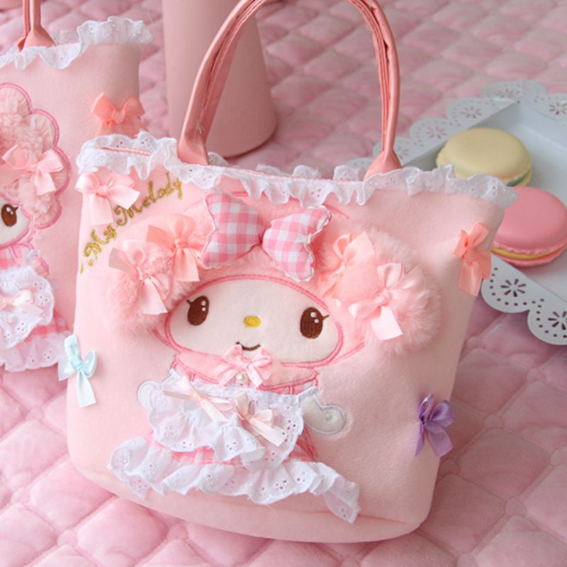 Nooer Kawaii Beautiful Girl Plush Backpack Toy Woman Plush Lunch Bag Backpack Kids Child Children Birthday Christmas Gift