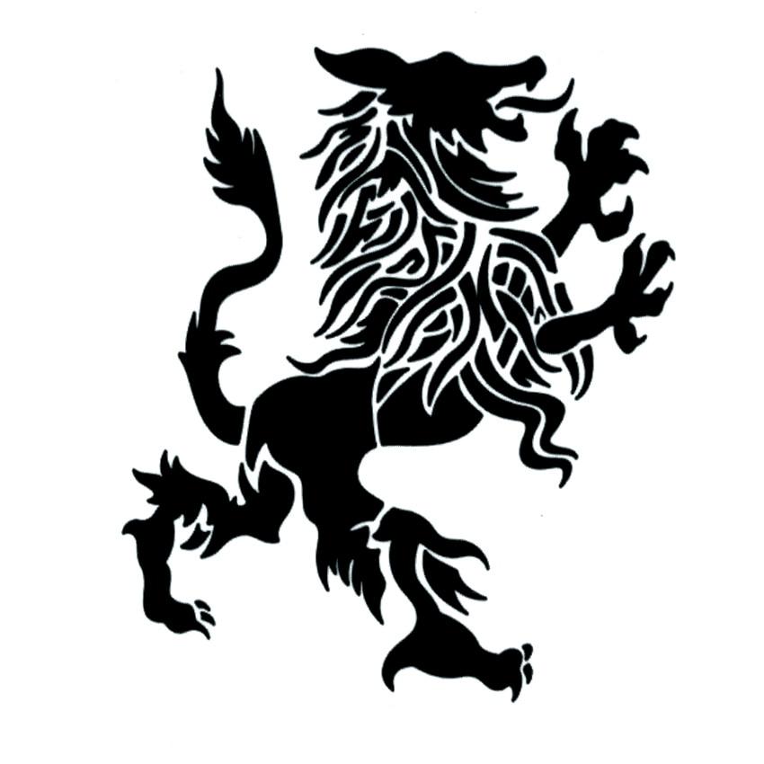Lion Symbol Autorität Und Power Wasserdicht Temporäre Tattoos Aufkleber Tatoo Totem Tatuagem Henna Tattoo Body Art Tatuajes