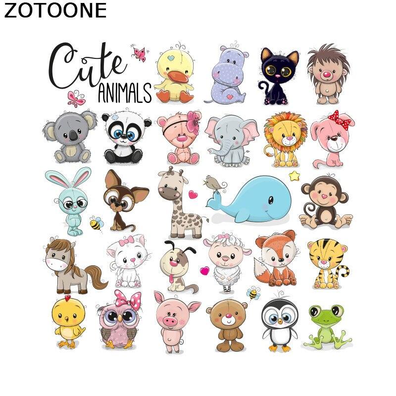 ZOTOONE Детский милый набор Совы с животными теплопередача для аппликации для одежды Сделай Сам утюжок для переноса патчи Милая футболка стикер E
