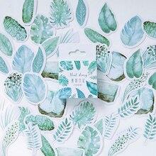 45 pièces/lot créatif mignon feuilles Mini papier autocollant décoration bricolage Ablum journal Scrapbooking étiquette autocollant Kawaii papeterie
