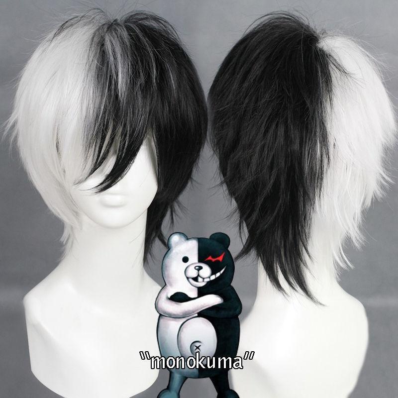 Anime Danganronpa peluca monokuma Cosplay Halloween fiesta de disfraces