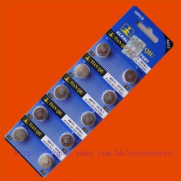 10pcs Ag13 Lr44 357 Sr44sw Alkaline Battery Tianqiu Ag13 Lr44 Tianqiu Batterieslr44 Ag13 Aliexpress