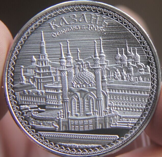 Серебряная медаль для монет, 40 мм