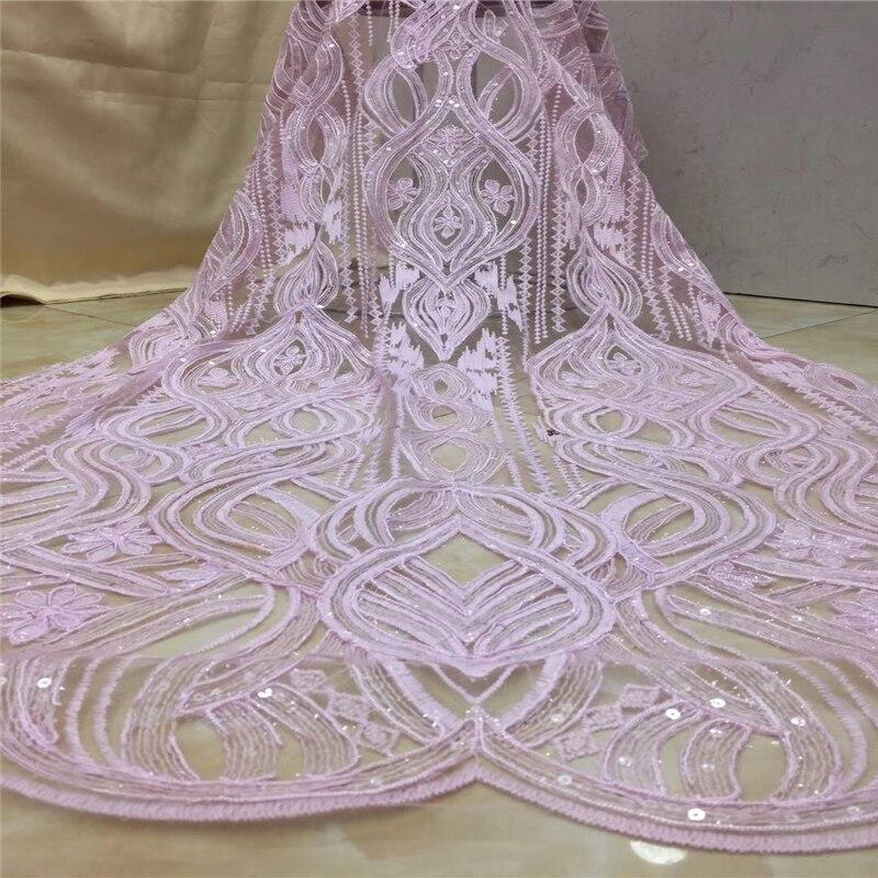 VILLIEA 2018 último encaje francés nigeriano tela de tul de alta calidad encaje africano de boda encaje de tul francés