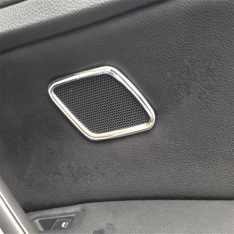 WELKINRY auto para VW Golf 7 MK7 VII, 2013, 2014, 2015, 2016, 2017, 2018 ABS cromado trasera ajuste de audio de bocina de paso alto de puerta