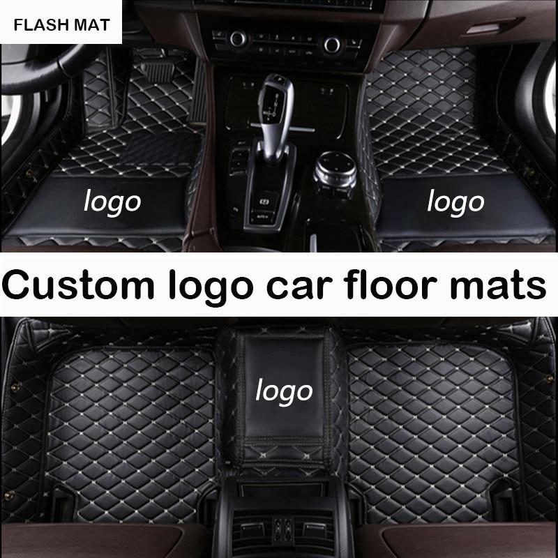 Автомобильные коврики с логотипом на заказ для audi a3 sportback a5 sportback tt mk1 A1 A2 A3 A4 A5 A6 A7 A8 Q3 Q5 Q7 S4 S5 S8 RS автомобильные коврики