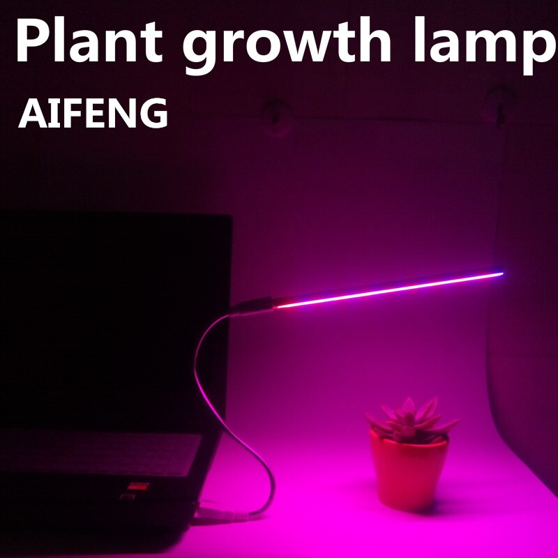 Lámpara Led de cultivo AIFENG, usb, 3 w, 5w, para uso profesional, lámpara de plantas para interior, lámpara led de espectro completo para cultivo hidropónico, rojo y azul