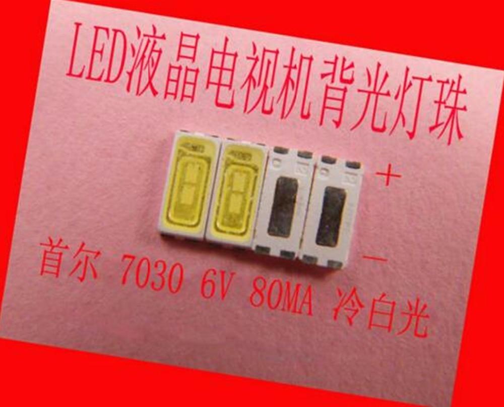 200 unid/lote para reparar Sony Toshiba Sharp LED LCD TV backlight Seúl SMD ledes 7030 6 V luz blanca fría diodo emisor