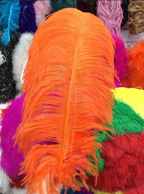 ¡Nueva lista! 10 piezas fabricantes que venden una selección de plumas de avestruz naranja 24-26 pulgadas 60-65 cm vestido de novia