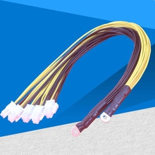 10 adet 6Pin Konnektörleri Sever Güç uzatma kablosu PCIe Express Antminer S9 S9i L3 + Bitmain Madenci PSU Kablosu, DHL ile gemi