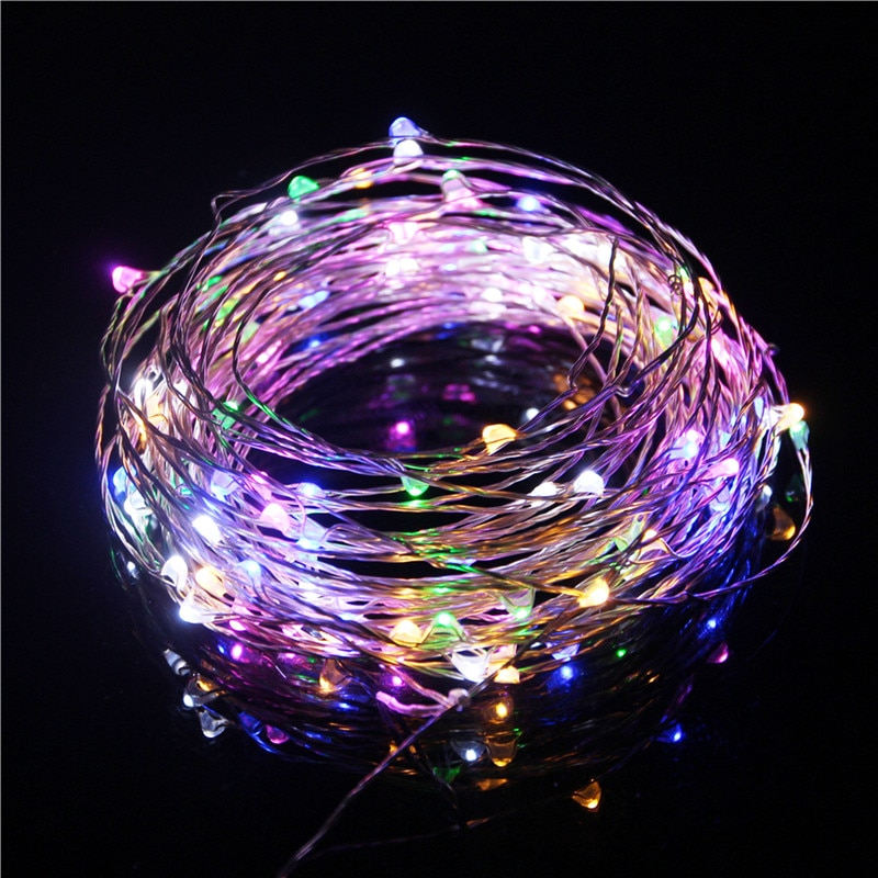 holiday lighting 5m 50led string light copper silver wire battery fairy christmas garland wedding party decoration outdoor 1Pcs 5M 10M Copper Silver Wire USB LED String lights Waterproof Holiday lighting For Fairy Christmas Wedding Party Decoration