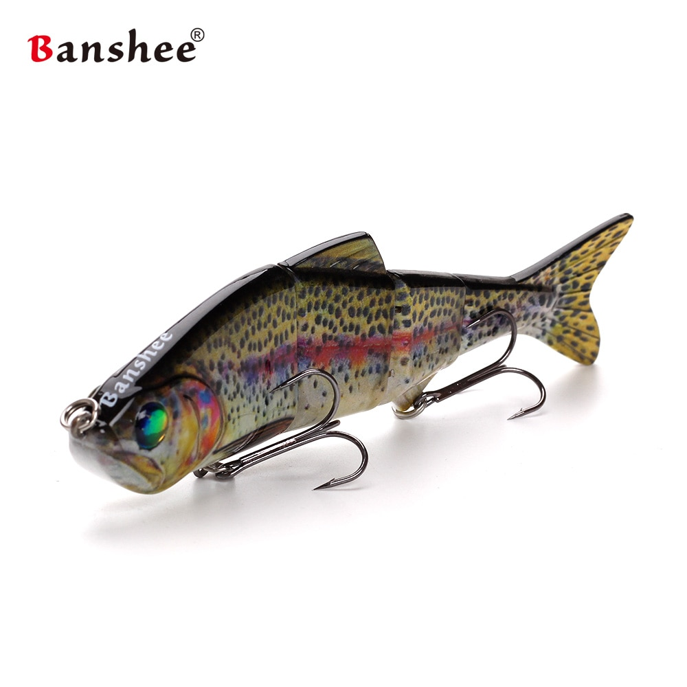 Banshee 153mm 35g Nexus Prophecy MM VMJ04-6 section artificial hard bait Multi  4 Jointed Sinking lifelike swimbait for bass enlarge