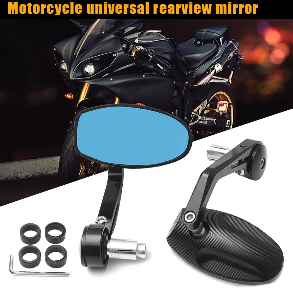 Novo 2 pçs cnc motocicleta barra final espelhos retrovisores laterais portátil para rua triplo csl2018