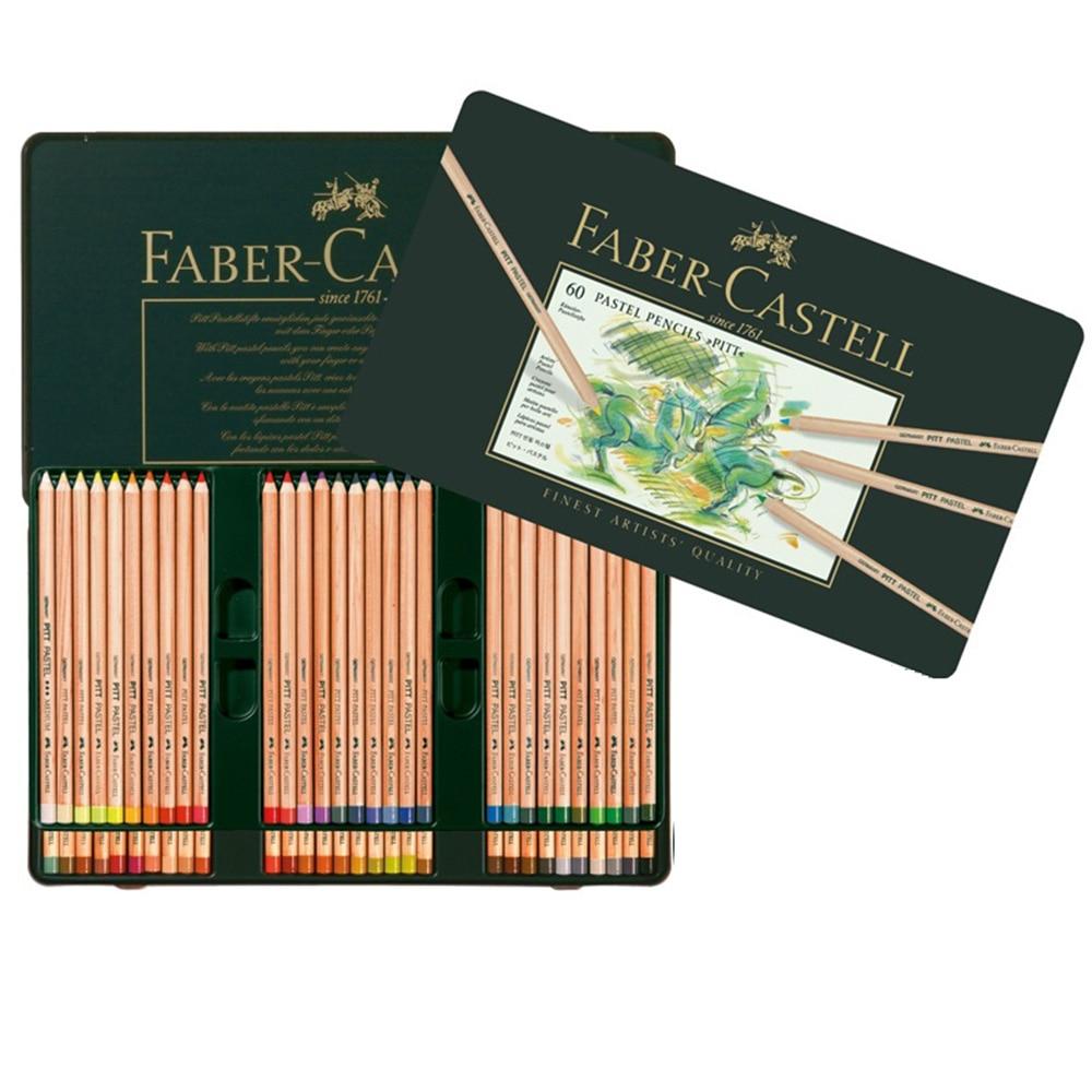 FABER CASTELL PITT Artist 60 Cores embalagem de lata caixa de Lápis Pastel Verde