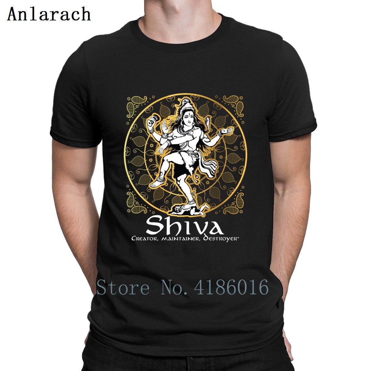 Señor Shiva diseño hinduismo regalo para los seguidores camiseta personalizada para hombre de manga corta estilo de verano camiseta Hip Hop novedad Linda