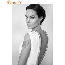 Custom Angelina Jolie Cloth Silk Fabric poster Home Decoration Wall Art New Cloth Silk Fabric wall poster print