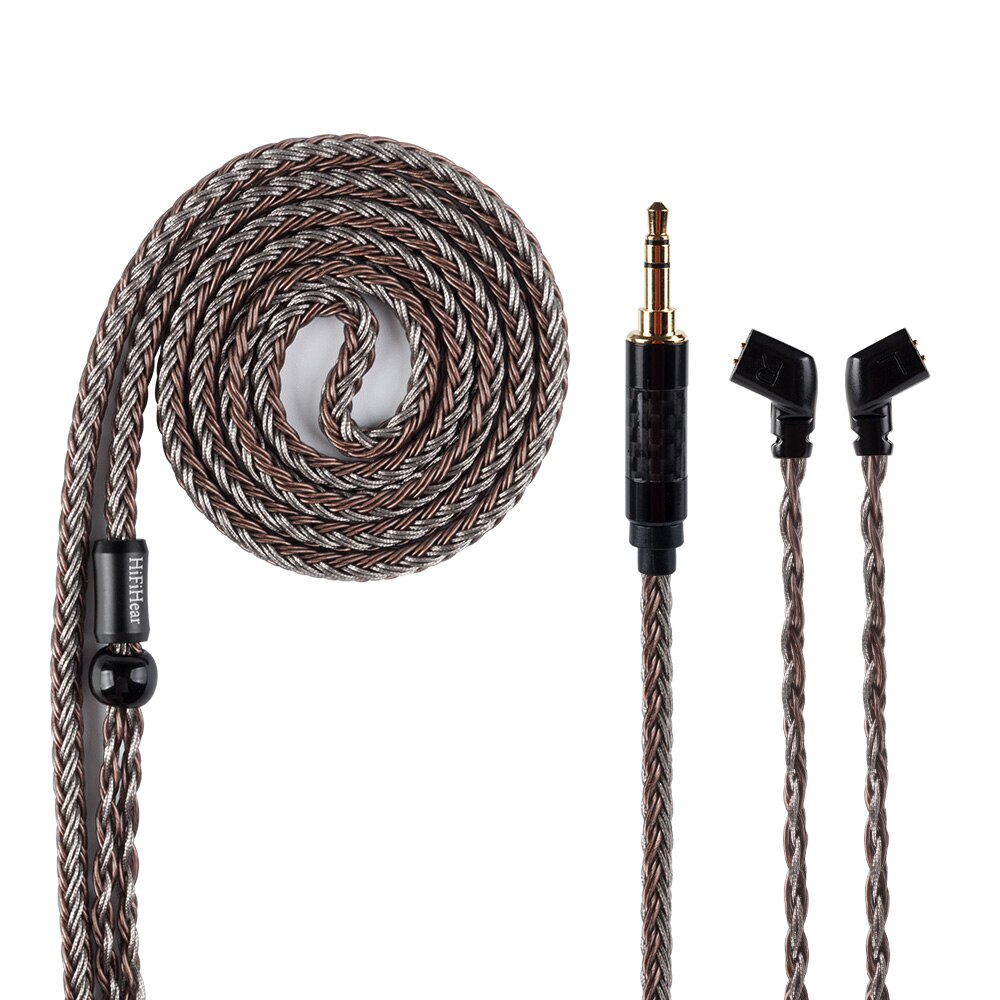 HiFiHear 16 ядерный посеребренный сбалансированный кабель 2,5/3,5/4,4 мм с MMCX/2PIN/QDC forZS10 Pro ZSX ZSN PRO C12 BLON BL-03 BL05