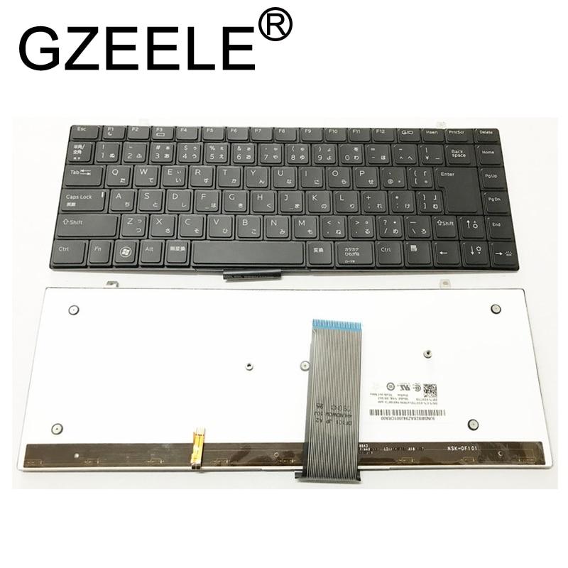 GZEELE-لوحة مفاتيح بإضاءة خلفية ، تخطيط JP ياباني ، لجهاز DELL Studio XPS 1340 1640 1645 1647 1650 PP17S ، لوحة مفاتيح بإضاءة خلفية