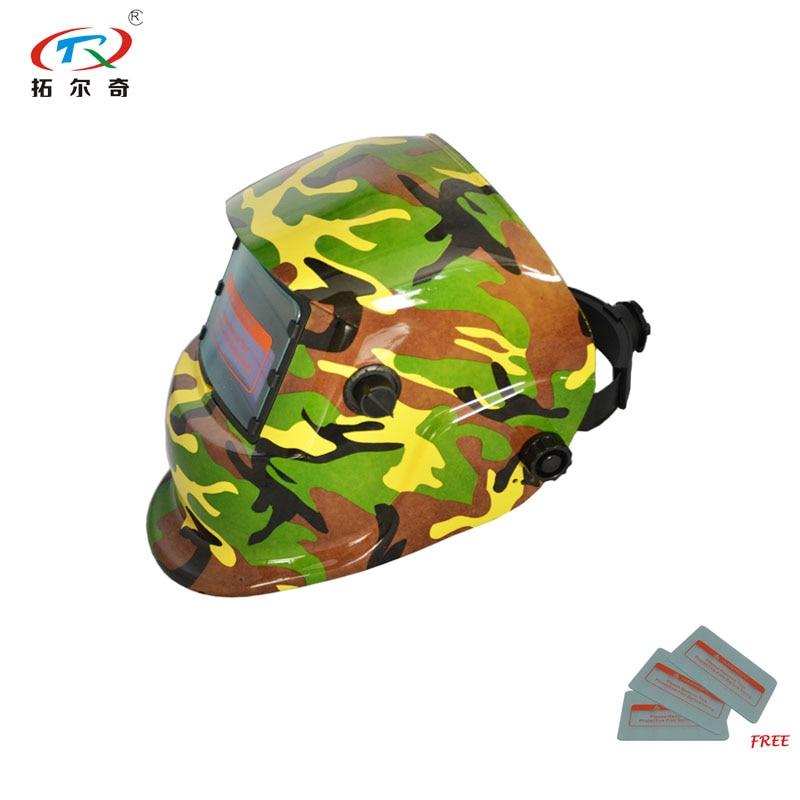 Casco de seguridad personalizado Industrial autocambiante con energía Solar ajustable Máscara de Soldadura Auto oscurecimiento casco de soldadura TRQ-HD61-2233FF