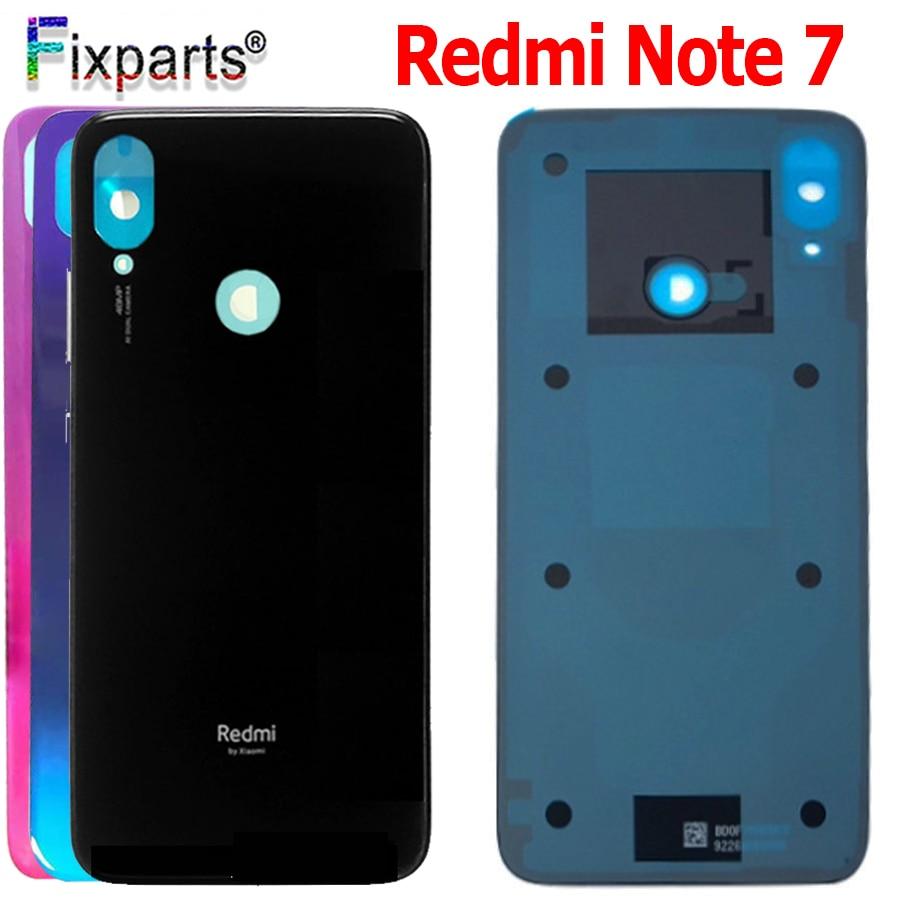 Redmi Note 7 batería cubierta trasera puerta de la vivienda chasis medio partes de reemplazo para Xiaomi Redmi Note 7 Cubierta