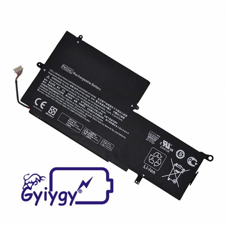 Batería para ordenador portátil, PK03XL 11,4 V 4670mAh para HP Spectre Pro X360 Spectre 13 HSTNN-DB6S 789116-005 PK03056XL 56Wh