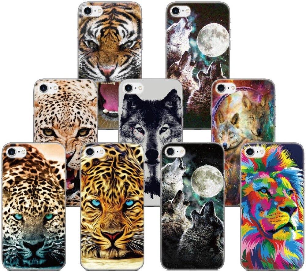 Caso de Telefone tigre Lobo Para BQ Aquaris M5 E5 E6 M5.5 X5 Plus Para Blackberry Z10 Z30 Q10 Para Sony xperia E4 C3 C4 Z Z1 L1 XZ Capa