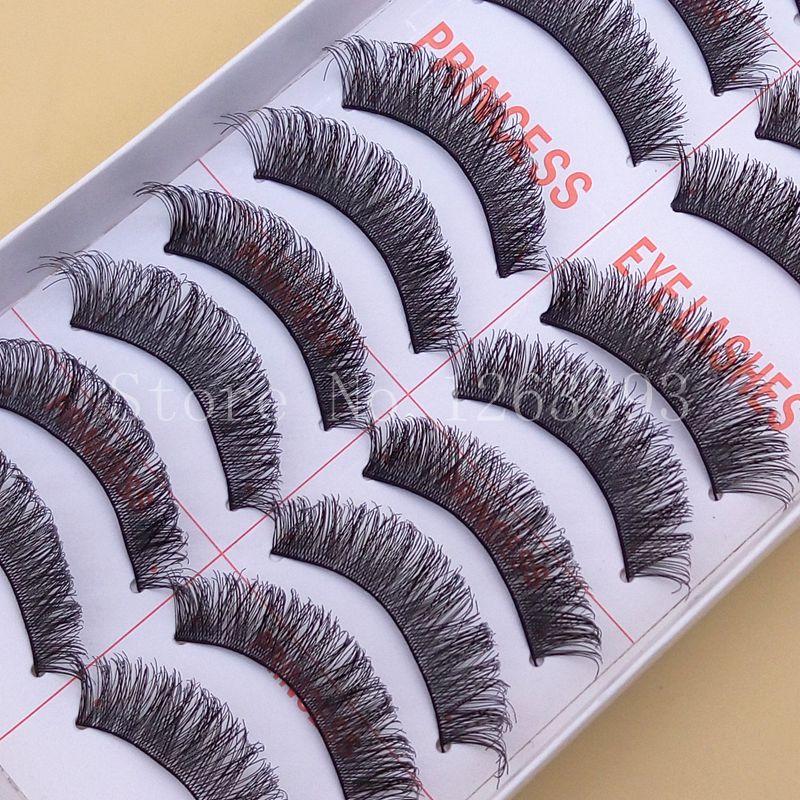 YOKPN Slim Thick False Eyelashes Holiday Makeup Natural Cross Eyelashes High-quality Natural Stage Makeup False Eyelashes