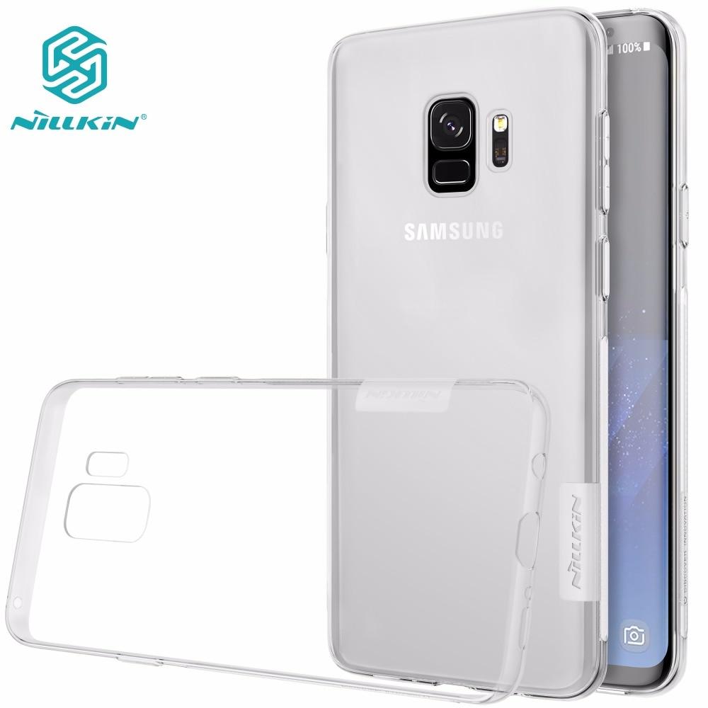 Tpu transparente caso macio para samsung galaxy s9 s9 plus s7 nillkin natureza série marca de luxo com pacote de varejo
