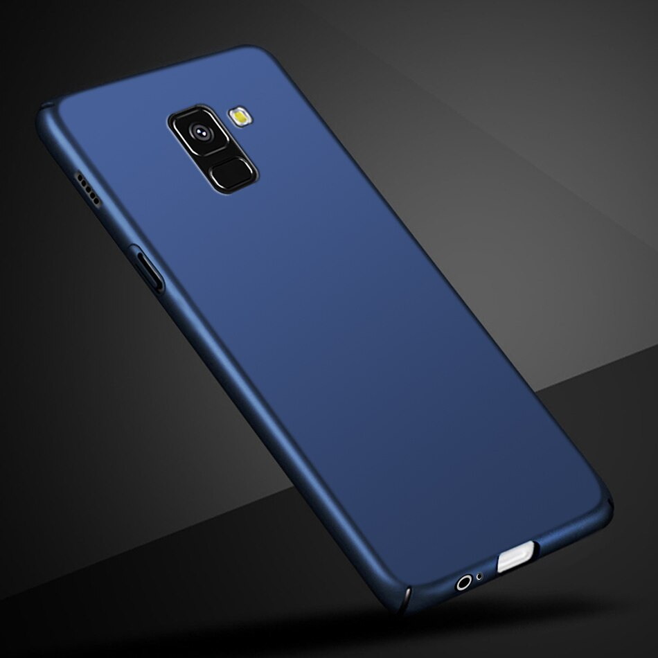 Funda rígida de PC funda para Samsung Galaxy A8 Plus A730F de 6,0 pulgadas, funda fina de plástico duro para teléfono Samsung A8 Plus 2018 A730 SM-A730