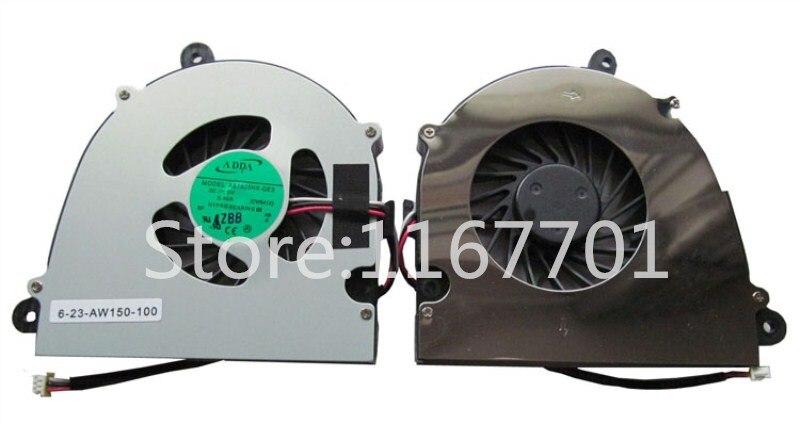 Original novo Laptop/Notebook Ventilador de Refrigeração da CPU Para Clevo W650 W650S W650SHQ WA50SHQ K570N W110 W110ER 6-23-AW150-100 AB7605HX-GE3
