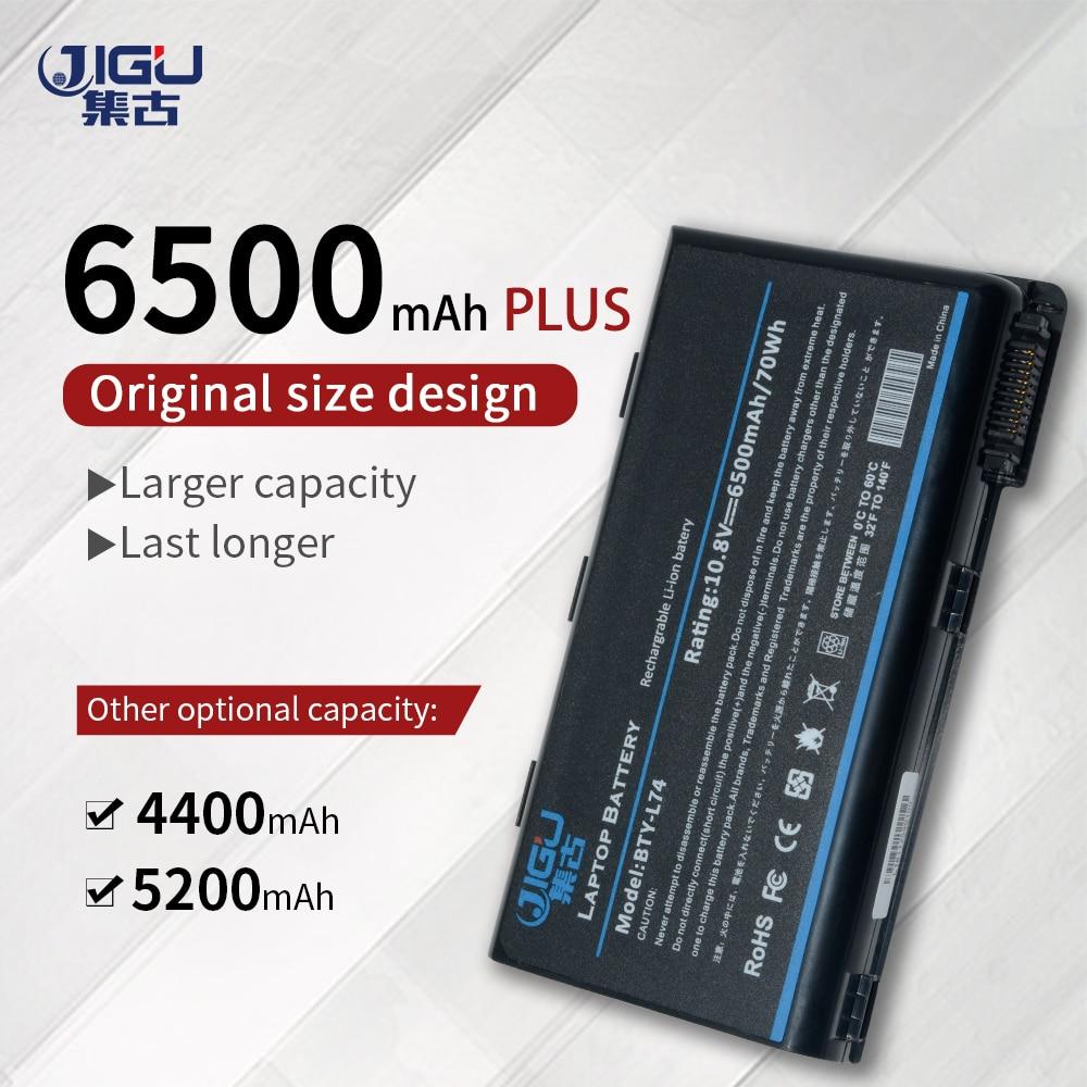 Jigu bty l74 garantia de 1 ano! bateria nova do portátil para msi 957-173xxp-102 BTY-L74 MS-1682 S9N-2062210-M47 BTY-L75