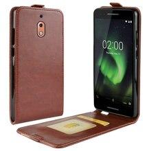 Étui de luxe en cuir rétro pour Nokia 2.1 2 2018 TA-1080 TA-1092 pour Nokia 2 étui portefeuille en cuir à rabat coque fundas Etui>