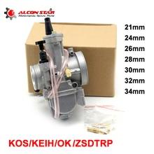 Alconstar- 21 carburateur KOSO KEIHIN PWK OKO   Moto, 26 28 30 32 34mm, carburateur, Scooter 2T 4T, moto course ATV