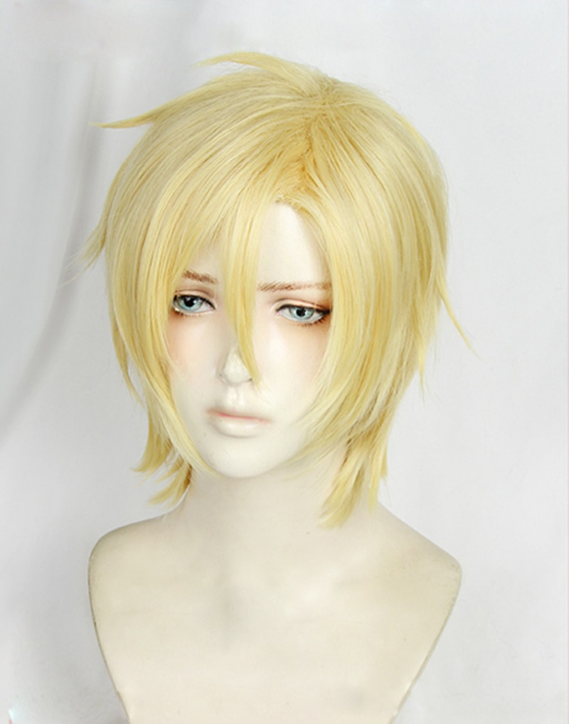 High Quality Anime BANANA FISH Ash Lynx Cosplay Wig Aslan Jade Callenreese Heat Resistant Synthetic