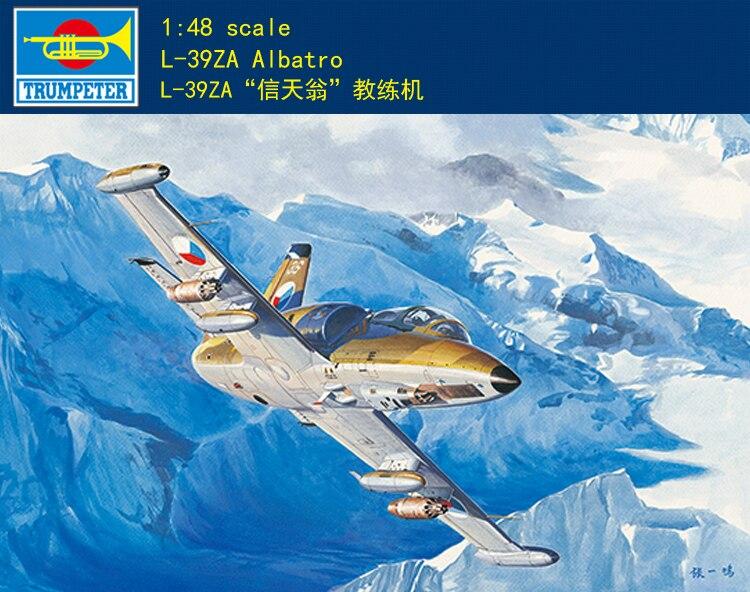 Modelo de trumpeter 05805 148 L-39ZA Albatro de aeronaves
