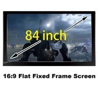 Ecran de projection 3D pour Home cinema  84 pouces diagonale avec 16 9 cadre plat fixe  80mm Velevt noir