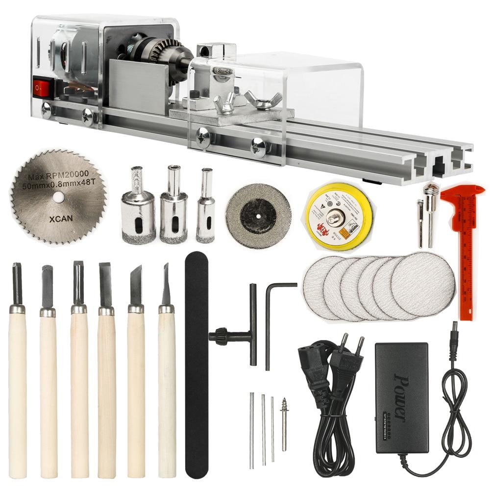 OPHIR-آلة مخرطة صغيرة ، أداة DIY ، مخرطة خشب ، آلة طحن ، خرز تلميع ، مثقاب ، مجموعة أدوات دوارة KD020W