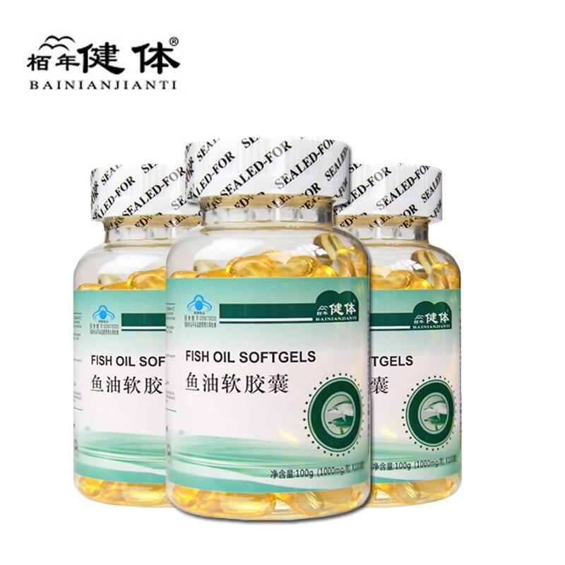 Aceite de pescado Omega 3, DHA EPA, Deap Sea Omega 3 Capsul Hypolipidemic, 3 unidades por juego