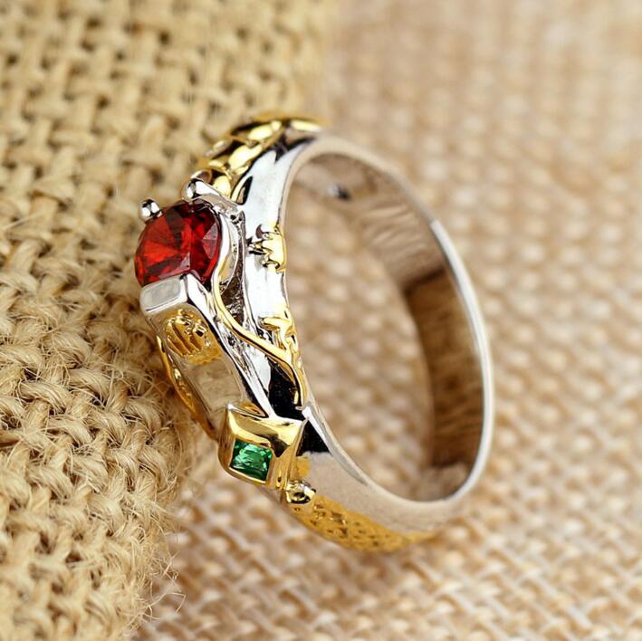 LOL Maters joyería Taric Ezreal Khada anillo jhin con piedra gran anillo de cristal héroes Tema de joyería Janna Kindred Azir Ashe anillo