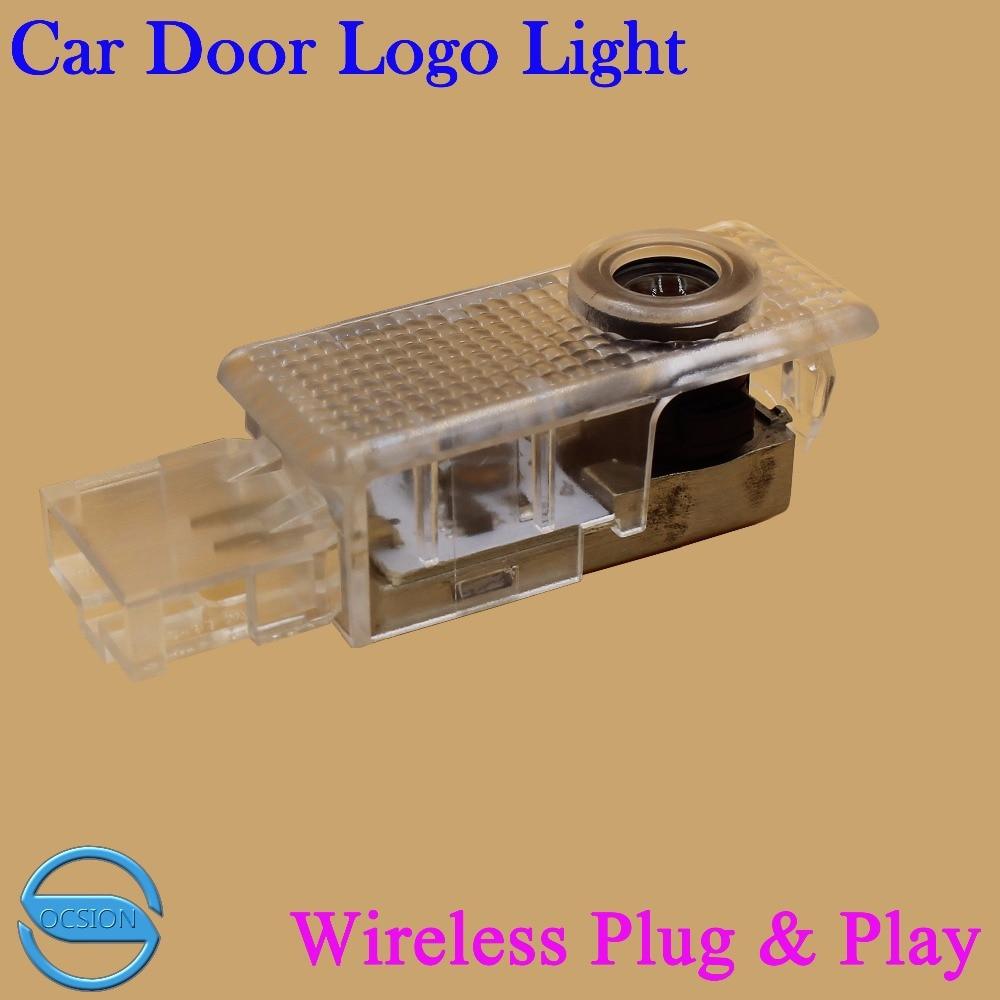 2 uds LED Luz de bienvenida para puerta de coche para Volkswagen VW Touareg 2004-2010 inalámbrico 3D Logo Proyector láser sombra fantasma