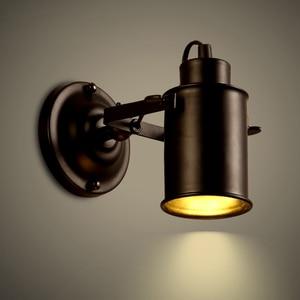Wall Lamp Vintage Bedside light retro Stair Lamp Wall Lights GU10 LED  black Led Lamp For Bedroom Decor