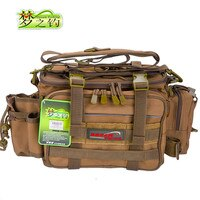 Dream Fishing Multifunctional Fishing Bag Large Capacity 36*18*23cm 1200D Nylon Waterproof Tackle Bag With YKK Zip For Fishing
