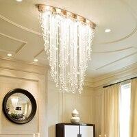 Modern Chandelier Lighting Oval Design Dining Living Room Crystal Light Luxury Flush Mount LED Cristal Lustre