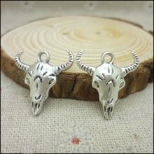 80 pcs Charms Tau Pendant  Tibetan silver  Zinc Alloy Fit Bracelet Necklace DIY Metal Jewelry Findings