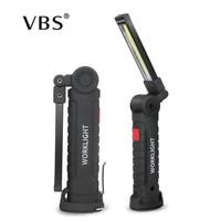 Led Flashlight USB Rechargeable 5 Mode COB Work Light Led Flashlight Torch Magnetic Portable Work Lamp Car Repair Camping Lamp
