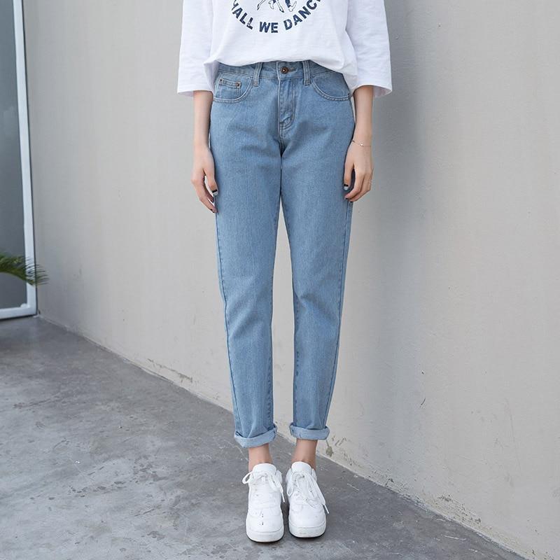 Новые женские джинсы с высокой талией, Женские джинсы-бойфренды, женские шаровары, женские повседневные джинсы, рваные джинсы для женщин, бо...
