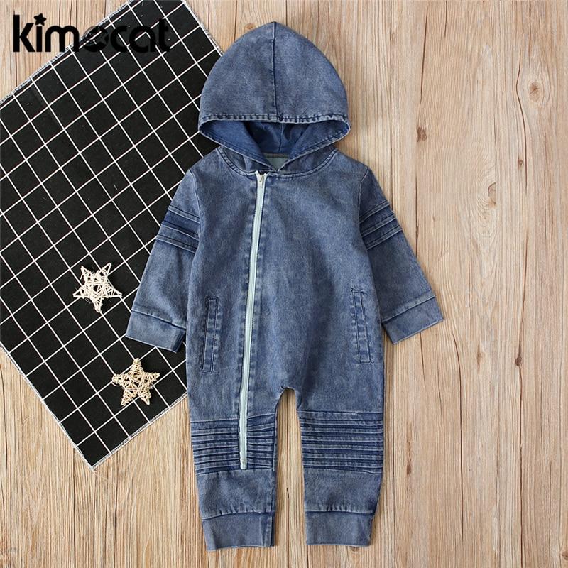 Kimocat New Arrival Spring Autumn Baby Boys Girls Clothes Newborn Jumpsuits One-piece Infant Boys Gi